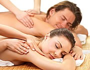 Picture of man a women getting a massage.